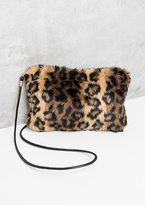 Missy Empire Destiny Leopard Print Faux Fur Bag
