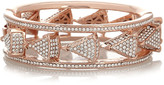 Rose gold-plated crystal triangle bracelet