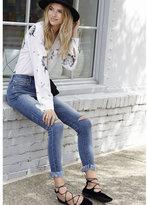 Express slim fit dandelion print portofino shirt