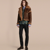 Burberry Sculptural Shearling Flight Jacket