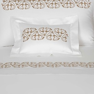 Frette Ornate Medallion Embroidered Boudoir Sham