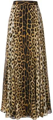 Moschino Leopard Print Long Skirt