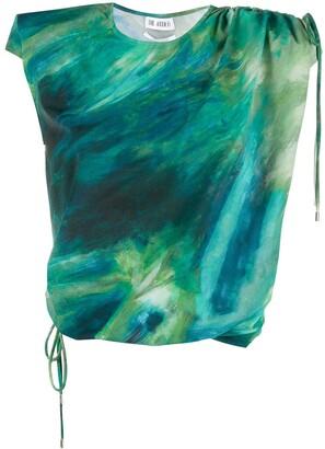 ATTICO Tie-Dye Print Drawstring Top