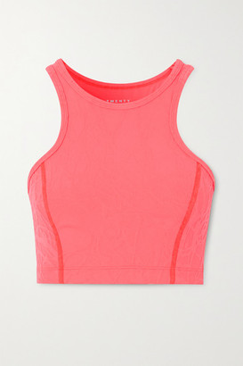 Twenty Montreal Pollock 3d Active Stretch Jacquard-knit Sports Bra - Pink
