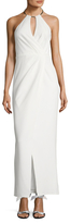 JS Collections Pleated Halter Gown