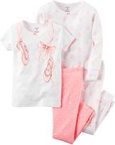 Carter's 4-pc. Cotton Pajama Set - Baby Girls newborn-24m