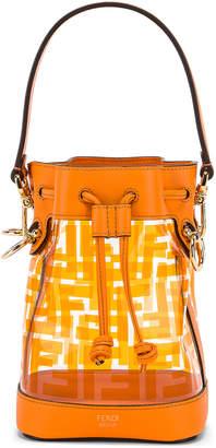 Fendi Mini Mon Tresor Logo Crossbody Bag in Orange | FWRD
