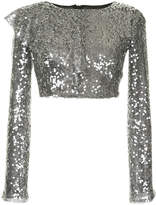 Walk Of Shame sequin cropped top