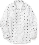 Old Navy Classic Printed Poplin Shirt for Boys