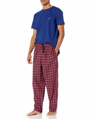 Nautica Men's Flannel Pant Pajama Set