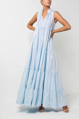 S/W/F Eternal Tiered Ruffle Maxi Dress