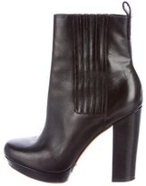 KORS Leather Round-Toe Ankle Boots
