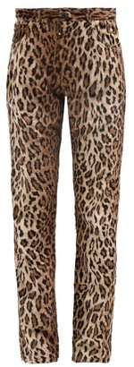 Martine Rose Leopard-print Faux-fur Trousers - Leopard