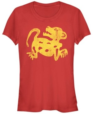 Fifth Sun Legends of The Hidden Temple Women's Red Jaguar Short Sleeve Tee Shirt