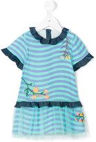 Fendi striped flared dress - kids - Cotton/Polyamide/Spandex/Elastane - 12 mth