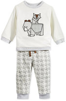 First Impressions Baby Boys' 2-Pc. Animal Sweatshirt & Houndstooth Jacquard Pants, Only at Macy's
