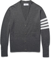Thom Browne Slim-Fit Striped Cashmere Cardigan