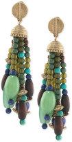 Lauren Ralph Lauren Gold-Tone Beaded Tassel Drop Earrings