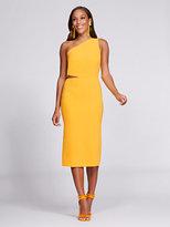 New York & Co. Gabrielle Union Collection - One-Shoulder Sheath Dress - Mango