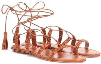 Aquazzura Stromboli leather sandals