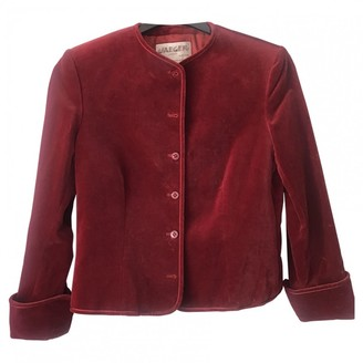 Jaeger Burgundy Velvet Jacket for Women