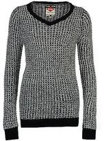 Lee Cooper Womens Chunky Jumper Ribbed Warm Pullover Long Sleeve V Neck Top
