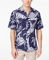 Tasso Elba Men's Woodblock Leaf Print Shirt, Only at Macy's