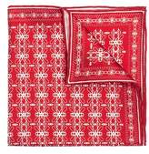 hook + ALBERT Men's Filigreed Silk Pocket Square