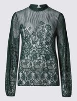 Marks and Spencer Lillian Lace Long Sleeve Blouse