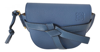 Loewe Gate Navy Leather Handbags