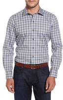David Donahue Plaid Regular Fit Sport Shirt