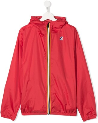 K Way Kids Zip Up Logo Rain Jacket