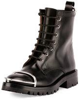 Alexander Wang Lyndon Box Calf Combat Boot, Black