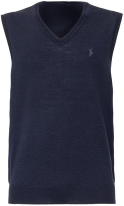 Polo Ralph Lauren Logo Embroidered Knitted Vest