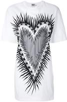 Fausto Puglisi flaming heart oversised T-shirt