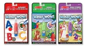Melissa & Doug Water Wow Bundle - Animals, Alphabet and Bible Stories