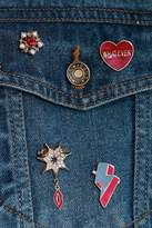 boohoo Missy Heart And Military Inspired Badges gold