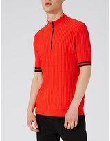 Topman Topman Zip-up Slim-fit Knitted Top