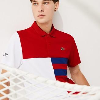 Lacoste Men's SPORT Colorblock Breathable Pique Tennis Polo Shirt