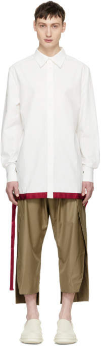 D.gnak By Kang.d White Nidana Embroidered Oversized Shirt