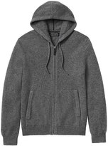 Banana Republic Todd & Duncan Cashmere Full-Zip Sweater Hoodie