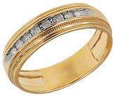 Lord & Taylor Channel-Set Diamond and 14K Yellow Gold Ring