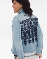 Chico's Lace-Back Denim Jacket