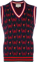 Gucci skull jacquard knit waistcoat