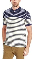 Nautica Men's Slim Fit Striped Short Sleeve Henley Shirt