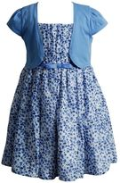 Youngland Girls 4-6x Floral Dress & Cardigan Set