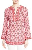 Tory Burch Women's Jayne Floral Print Cotton Tunic