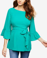 A Pea in the Pod Maternity Bell-Sleeve Blouse