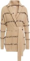 Brunello Cucinelli Belted Sequin-embellished Cotton Cardigan