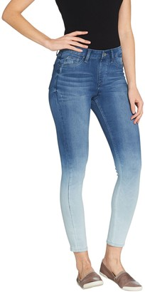 Laurie Felt Silky Denim Ombre Skinny Pull-On Jeans